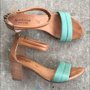 Sundance | 2-Tone Chunky Heel Sandals